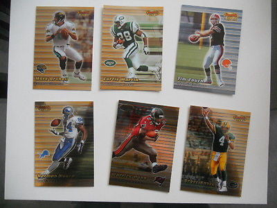 Bowmans Best foil rare preview cards set of NFL superstars