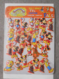 Disney rare magnets set lot on metal board. 1970s