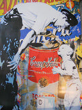 "Mr. Brainwash (Banksy style) limited issued Graffiti poster ""Campbells"" 2011"