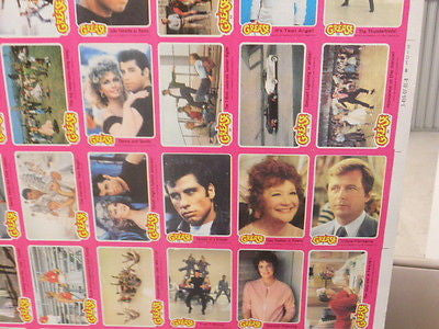 Grease Movie cards uncut card sheet 1978