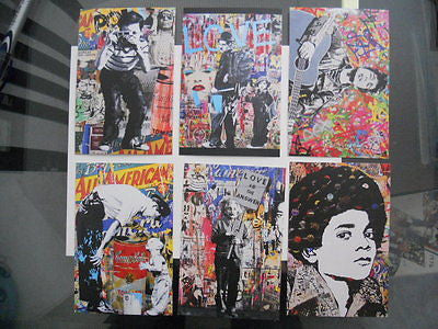 Mr. Brainwash Banksy style rare Graffiti limited 6 cards set from 2011