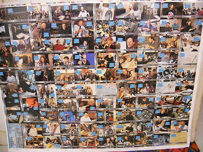 Star Trek Next Gen.(Behind the Scenes) TV show uncut card sheet 1990