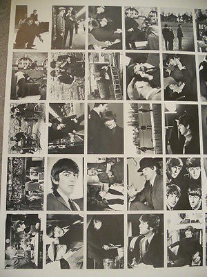 Beatles rare uncut card sheet set 1970s or 1980s