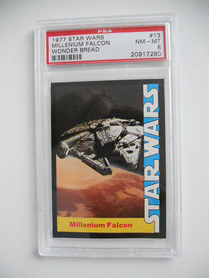 Star Wars Millenium Falcon PSA high graded Wonder Bread card 1977