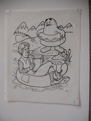 McDonald's rare unique original sketch art 9x12 from 1980s