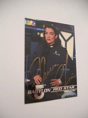 Babylon 5 rare Claudia Christian autograph signed in person card w/ COA 1990s