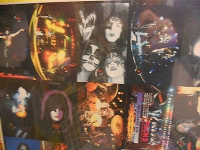 Kiss Rock Stars European cards rare uncut card sheet 1990s