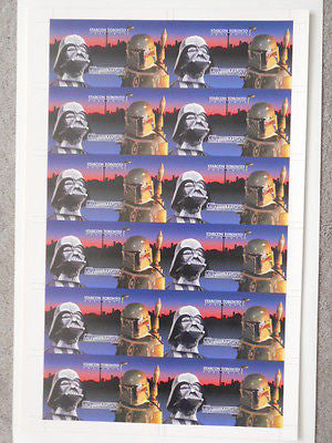Star Wars Starcon rare limited issue uncut card sheet (only issued in Canada1997