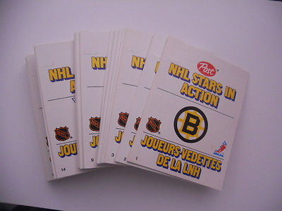 Post NHL Hockey Stars In Action rare card set 1981-82