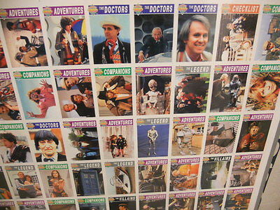 Doctor Who rare uncut card sheet from 1990