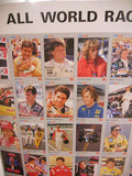 Formula 1 / Indy racing uncut card sheet 1990s