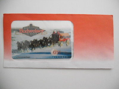 Budweiser beer rare GTI sealed unused collectible phonecard 1994