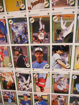 1989 Upper Deck rare baseball cards uncut sheet( stars and rookies)
