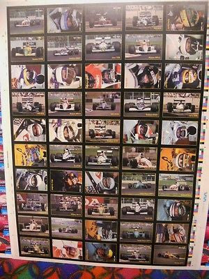Formula 1 racing cards uncut card sheet1991