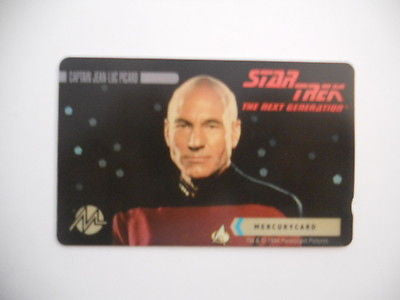 Star Trek Captain Picard British collectible phonecard 1990s