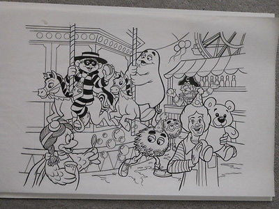 McDonalds rare original sketch art 11x19 from 1980s