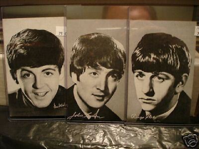 Beatles three rare exhibit cards 1969