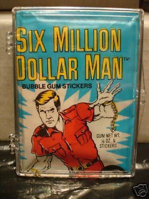 Six Million Dollar Man TV show cards unopened pack 1976