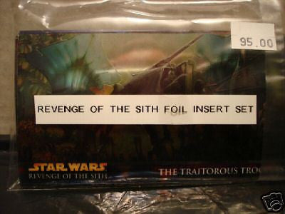 Star Wars Revenge of the Sith foil insert set