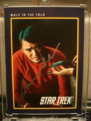 Star Trek Scotty card signed by James Doohan(deceased) w/ COA