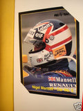 Formula 1 ad sheet with Mansell card 1990