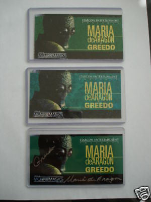 Star Wars Starcon rare Greedo special cards 3 cards lot deal 1997
