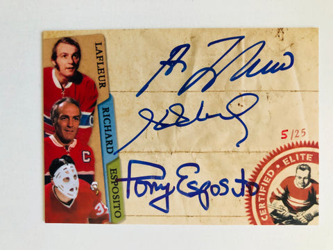 NHL hockey certified elite triple autograph insert card