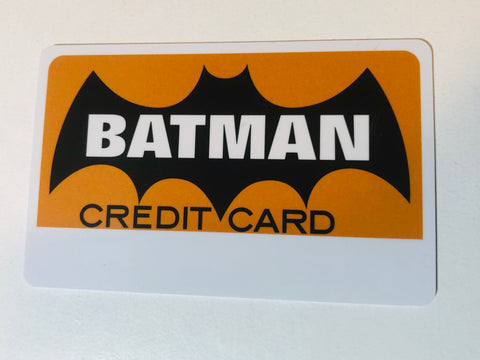 1966 Batman rare original collectible credit card