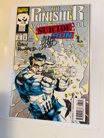 Punisher War Journal double autograph artists comic book with COA