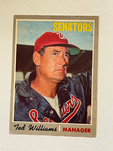 Ted Williams Opc Canadian version baseball card 1970