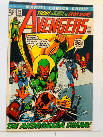 Avengers #96 Niel Adams art comic book 1971