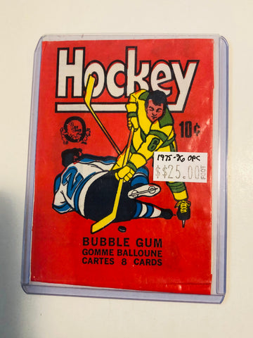 1975-76 opc hockey card wrapper