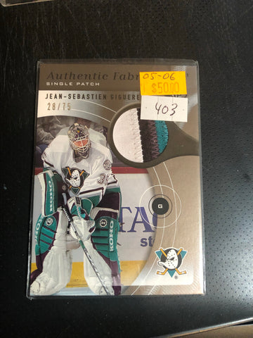Jean Sebastien Gigure hockey patch insert card