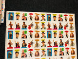 1984 Topps Indiana Jones and the Temple of Doom movie stickers uncut sheet