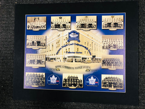 Toronto Maple Leafs Championship Years Ford limited issued matted poster 1999