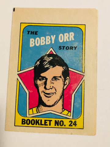 1971 Bobby Orr hockey comic insert booklet