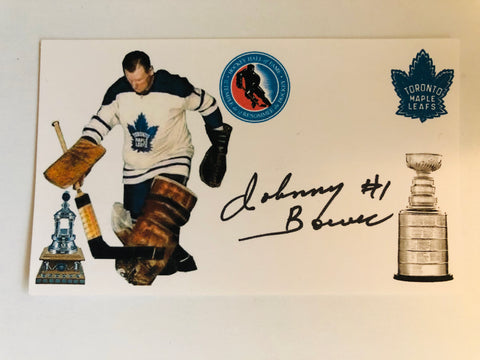 Toronto Maple Leafs Johnny Bower signed photo with COA