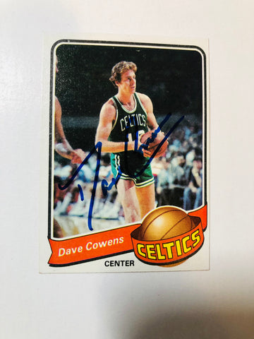 Dave Cowens Boston Celtics basketball autograph card with COA