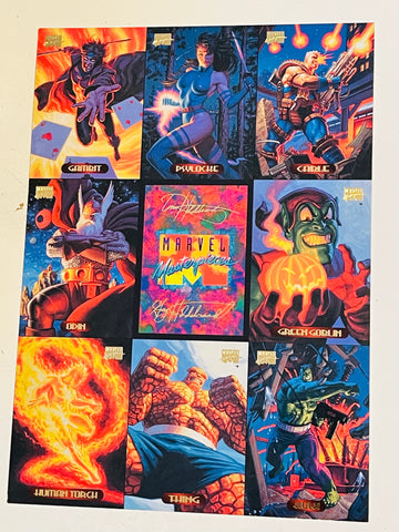 Marvel Masterpieces rare National convention issued uncut cards sheet 1994