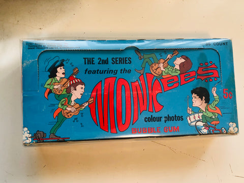 Monkees cards rare empty display box 1967