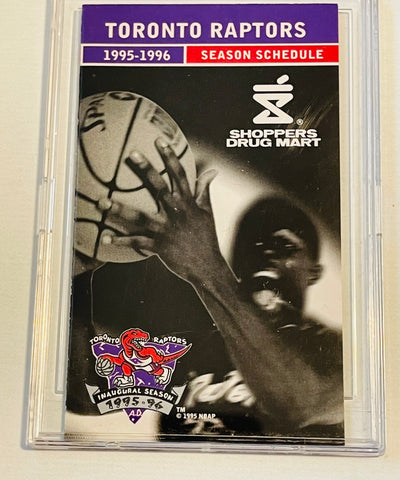 Toronto Raptors basketball first year pocket schedule 1995-96