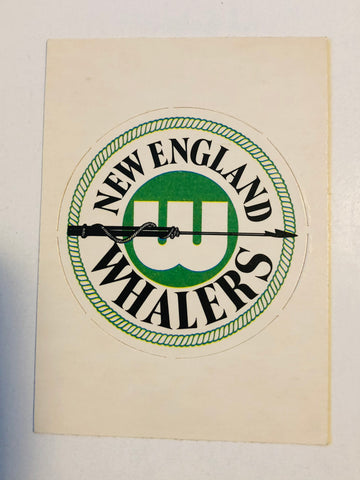 New England Whalers rare opc hockey logo punch insert card 1972
