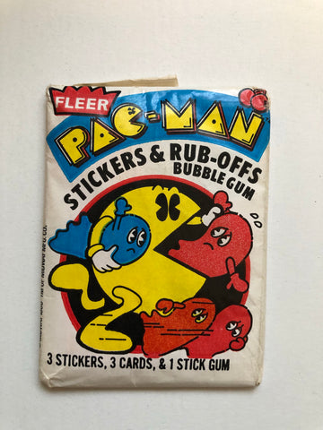 1981 Fleer Pac-man cards sealed pack