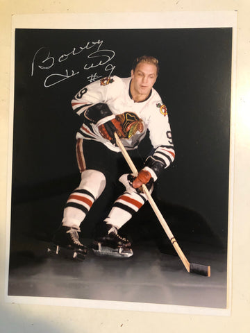 Bobby Hull Chicago Black Hawks signed photo with COA