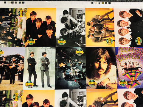 Beatles River group rare uncut cards sheet 1993