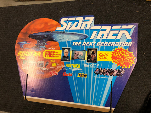 Star Trek Next Generation Hostess chips cards rare large display 27x38