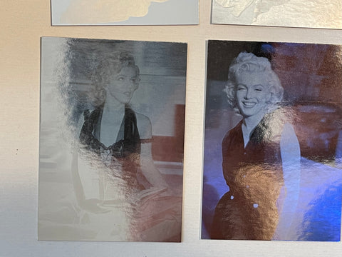 Marilyn Monroe numbered hologram cards set 1992