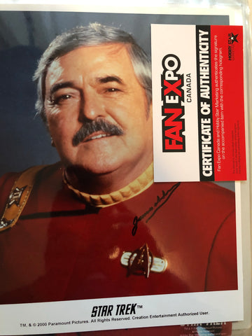 Star Trek Scotty James Doohan signed photo Fanexpo certified