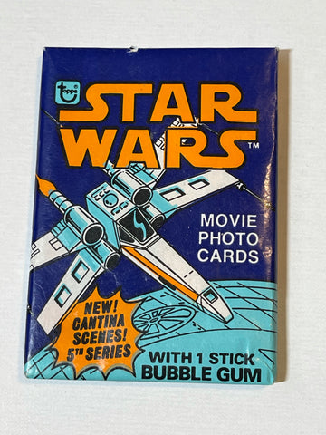 Star Wars series 5 cards sealed pack 1977