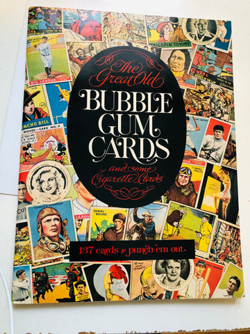 Old vintage Bubble gum cards rare sports and Nonsports cards punch out book 1977
